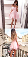 Off The Shoulder Pink Homecoming Dresses, Elegant Hoco Dresses For Freshmen cg300