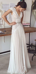 2019 Beach Boho Wedding Dresses Backless Bohemian Lace Tulle Bridal dress prom Gown cg3176
