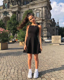 2019 Short A-line black Homecoming Dresses cg3264