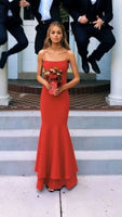 Sexy Red Spaghetti Straps Sheath Prom Dress,Halter Mermaid Party Dress , sparkly prom dress cg338