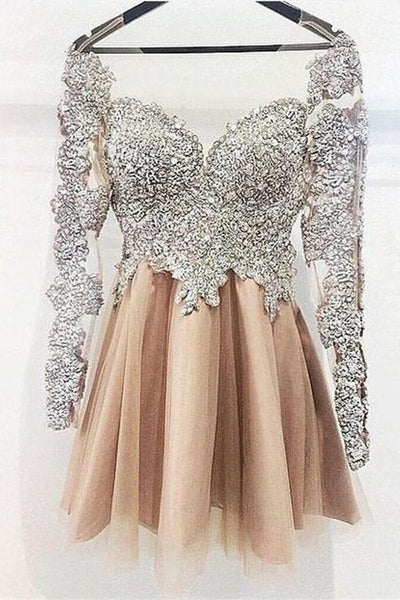 Sparkly Long Sleeves Sequin Shiny Short Homecoming Dresses Party Dresses  cg358