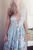 cute deep v neck homecoming dresses, short junior homecoming gowns cg364