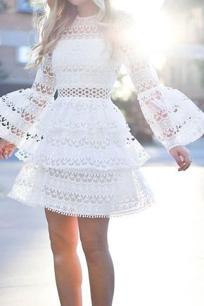 White Short homecoming Dresses With Lace Homecoming dress cg371