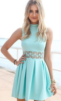 Short Sage Party Homecoming Dresses With Pleated Zipper Mini Feminine homecoming Dresses cg372