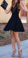 short homecoming dress,simple party dress,satin dress cg409