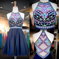 Comfortable Homecoming Dress Short Blue A-line Beading Short homecoming Dress, Homecoming Dresses cg414