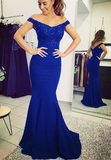 Royal blue bridesmaid dresses mermaid formal gowns cg5107
