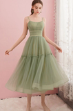 SIMPLE GREEN TULLE SHORT PARTY DRESS GREEN HOMECOMING DRESS cg5127