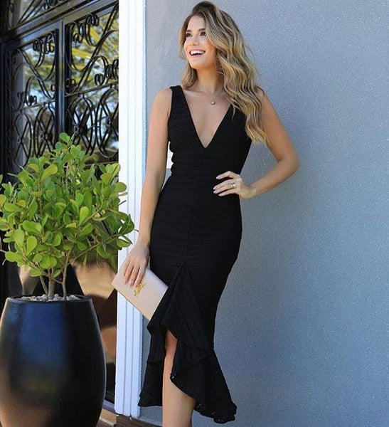 Prom Dresses , v-neck black Prom Dresses  cg5145