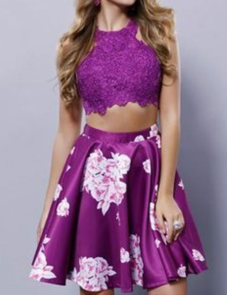 Two Pieces Evening Short homecoming Dress cg5164