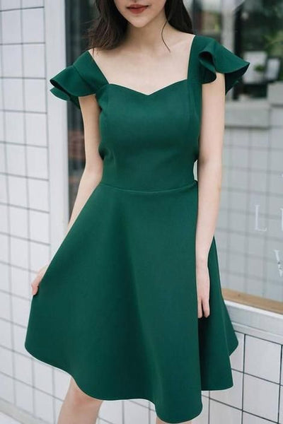 Party Dress Forest Green Dress Formal Homecoming Dress cg5168