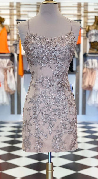 champagne lace short homecoming dresses, cheap homecoming dresses cg5185