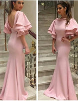 long Prom Dress,pink Prom Dress ,Satin Prom dress cg5268