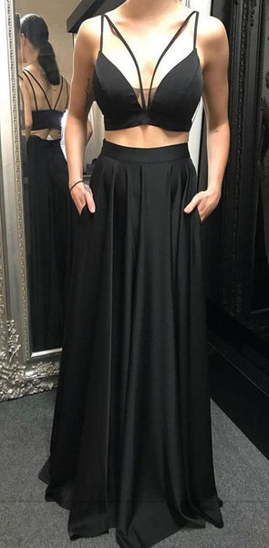 2020 black Prom Dress, Long Prom Dress Simple Prom Dress cg5290
