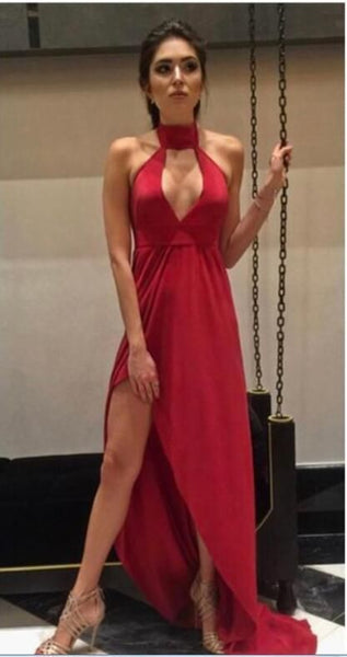 Unique Red Long Prom Dress, Sexy Evening Party Dress cg5363