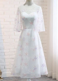 Charming Tea Length Simple Cheap A-line Party Dresses Homecoming Dresses cg5311