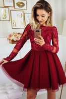 Burgundy homecoming dress cg5428
