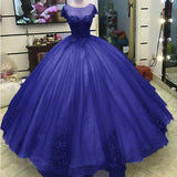 Ball Gown Princess Prom Dresses Lace Appliqued Victorian Formal gowns cg5457
