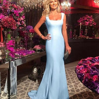 Blue Mermaid Evening prom Dress cg5476