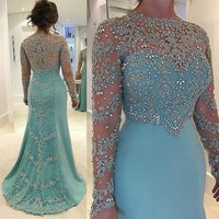 light Blue Plus Size Mother of the Bride Dresses, Evening Prom Dresses cg5477