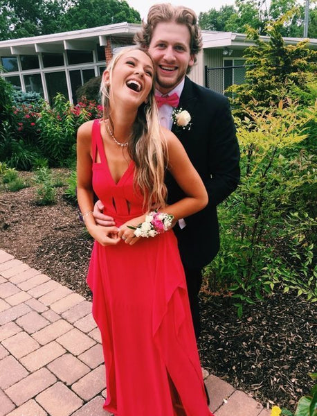 Simple Red Maxi Prom Dress,Sexy Party Dress,Formal Dress,Cheap Prom Dress cg5528