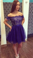 Sexy Blue Short homecoming Dress  cg5559