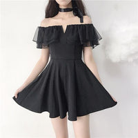 Black Off-Shoulder Elegant homecoming Dress cg5561