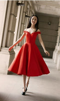 Charming Red Off Shoulder Homecoming Dress, Sexy Party Dresses, Red Graduation Dress  cg5615