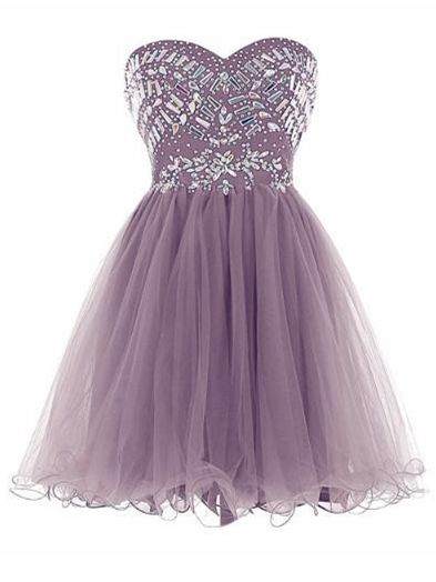 New Arrival Grey Tulle Homecoming Dresses with Crystal  cg5667