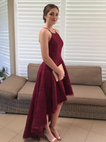 Burgundy High Low Prom Dress,Party Dress  cg5671