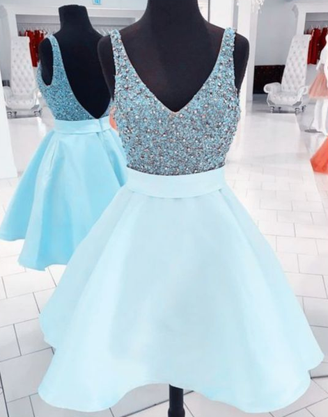 sequin beaded homecoming dress,short graduation dresses  cg5685