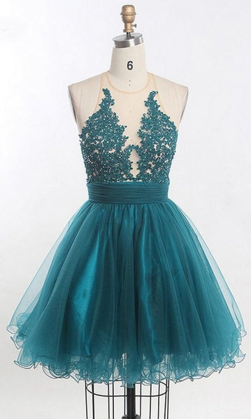 Short Homecoming Dress, Tulle Homecoming Dresses, Sleeveless Homecoming Dress  cg5773