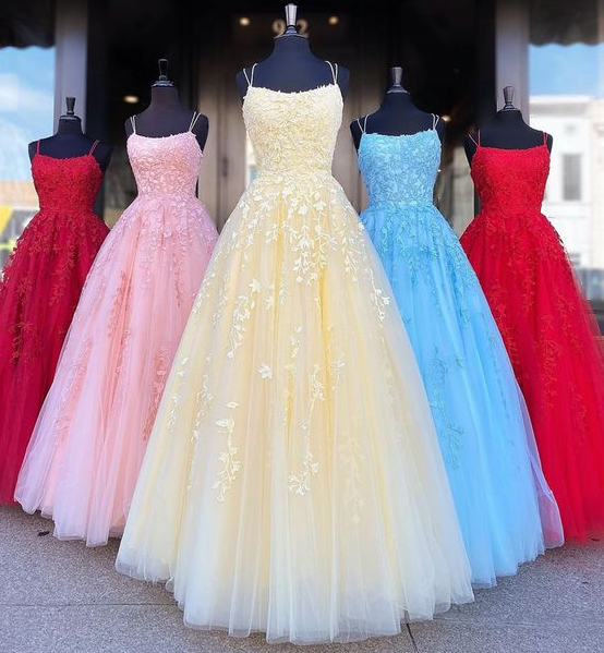 Backless Yellow Pink Blue Red Burgundy Lace Prom Dresses, Backless Lace Formal Evening Bridesmaid Dresses  cg5871
