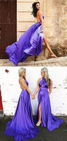 Sexy Criss Cross Long Prom Dresses,Sexy High Slit Prom Dresses,Backless Prom Dresses  cg5906