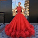 Stunning sequined puffy queen pleating formal evening party prom dress ball gown  cg5914