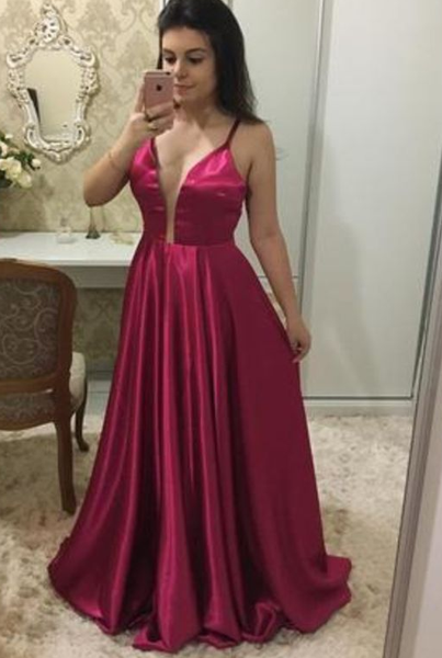 Sexy Spaghetti Straps Prom Dress, Sleeveless A Line Prom Dresses, Long Evening Dress  cg5937