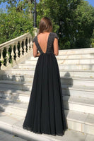 Open Back With Beadings Evening Gowns prom Formal Dress Split Side   cg5998