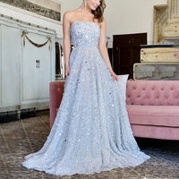 Sexy Tube Top Hot Silver Sleeveless prom Dress  cg6165