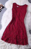 Elegant Lace Homecoming Dress,Sleeveless Dress,Burgundy Homecoming Dress  cg616
