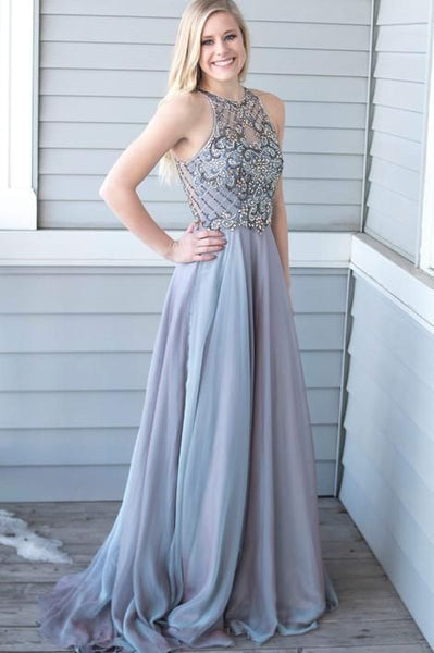 Prom Dress Halter Neckline, Prom Dresses, Evening Gown,Graduation School Party Gown, Winter Formal Dress   cg6235