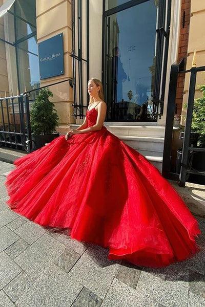Red Prom Dresses, Long Prom Dress for Teens, Unique Prom Dresses   cg6277