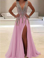 Sleeveless Deep V Sexy Evening prom Dress  cg6290