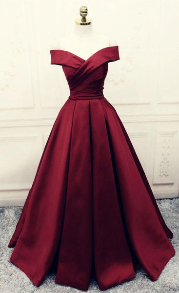 Burgundy Prom Dresses,Ball Gowns Prom Dress,Satin Evening Gowns  cg6309