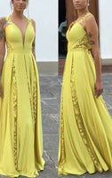 Beautiful Pretty Plunging Neck Long Prom Dress  cg6444