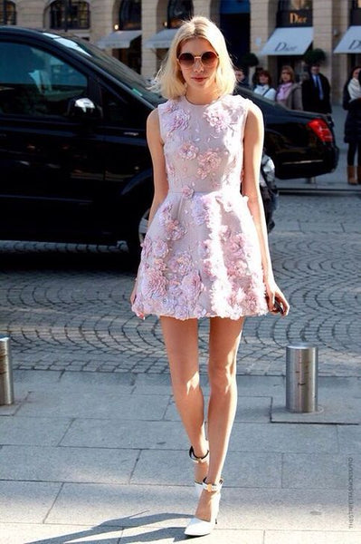Pink homecoming dresses,Handmade flower homecoming dresses,Pretty homecoming dresses,Fashion party dresses cg647