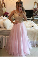 Scoop Prom Dresses A Line 30D Chiffon With Beads Bodice   cg6498