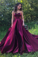 Burgundy Ball Gown Formal Evening Dresses, 2020 Burgundy Long Prom Dresses Sweetheart  cg6516