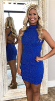 Sexy Royal Blue Homecoming Dresses, Tight Cocktail Dresses  cg651