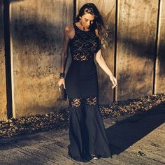 Black Simple Long Floor Length Prom Dresses Mermaid Prom Dress   cg6583