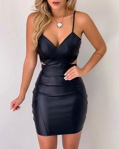 V Neck Backless Spaghetti Strap homecoming Dress  cg6643